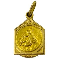 18 Karat Yellow Gold Italian 'St. Anthony' Charm Pendant, UnoAErre