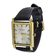 18 Karat Yellow Gold Jules Jergensen Wristwatch