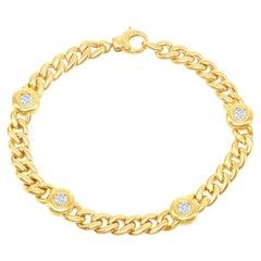 18 Karat Yellow Gold Link Bracelet