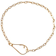 18 Karat Solid Yellow Gold Link Chain Bracelet
