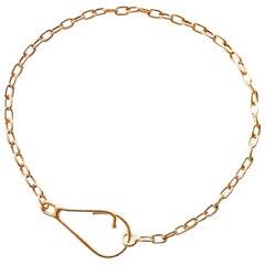 18 Karat Yellow Gold Link Chain Bracelet