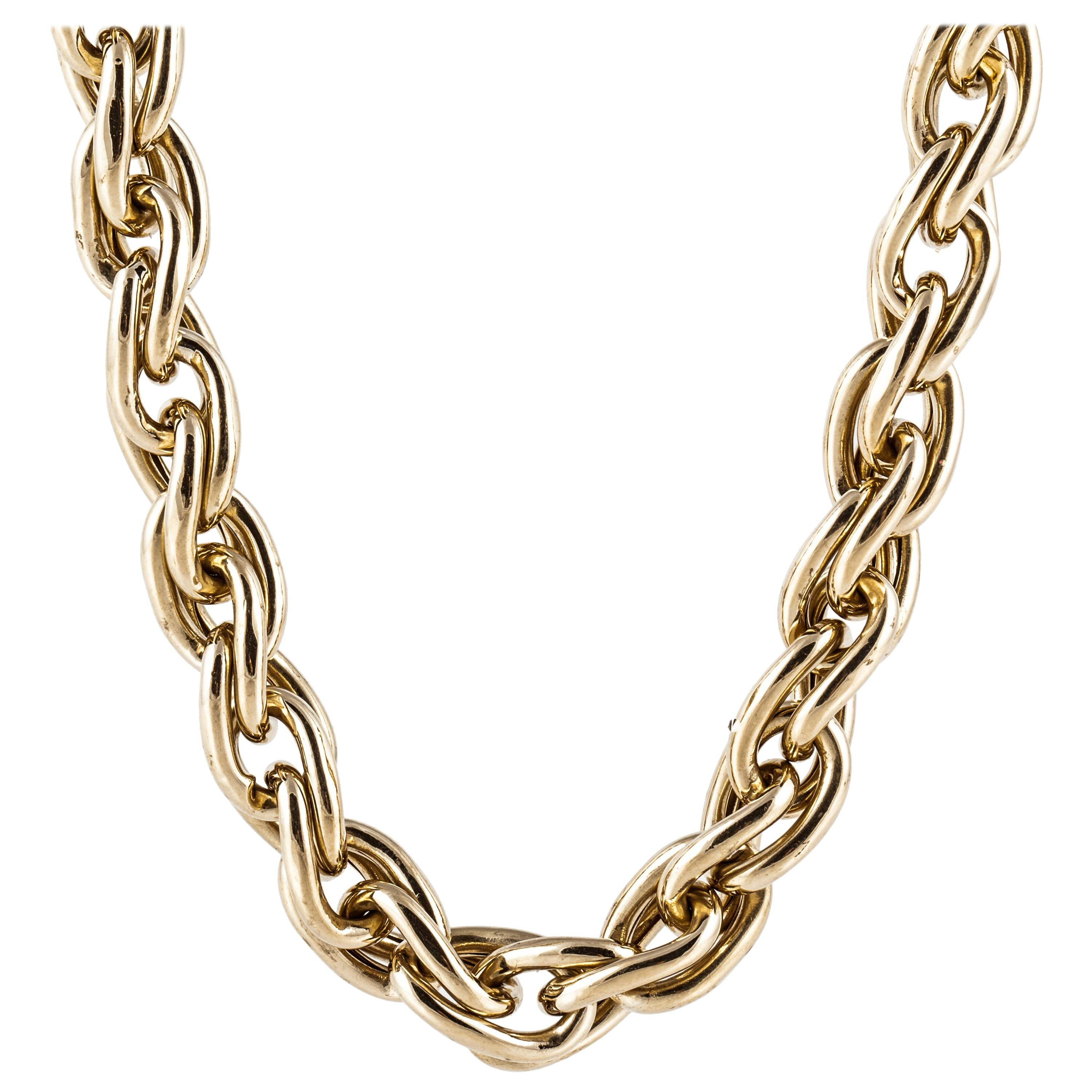 Link Chain Necklace in 18K Yellow Gold