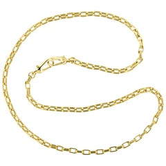18 Karat Yellow Gold Long Chain Necklace Made in Italy by Designer Pomellato