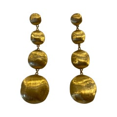 18 Karat Yellow Gold Marco Bicego, Africia Collection Drop Earrings