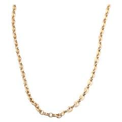 18 Karat Yellow Gold Modern Link Chain Necklace