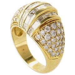 18 Karat Yellow Gold Multi Diamond Ring