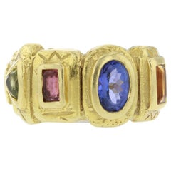 18 Karat Yellow Gold Multistone Ring