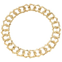 """18 Karat Yellow Gold Necklace from the """"Soleil"""" Collection by Gemlok"""