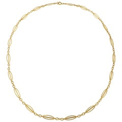 18 Karat Yellow Gold Necklace Handcrafted in Italy