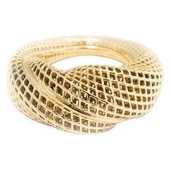 18 Karat Yellow Gold, Netline 360 Ring
