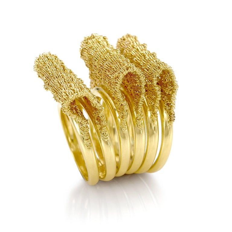 18 Karat Yellow Gold Oscar Set Foulard Collection For Sale 1