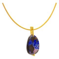 18 Karat Yellow Gold Opal Pendant