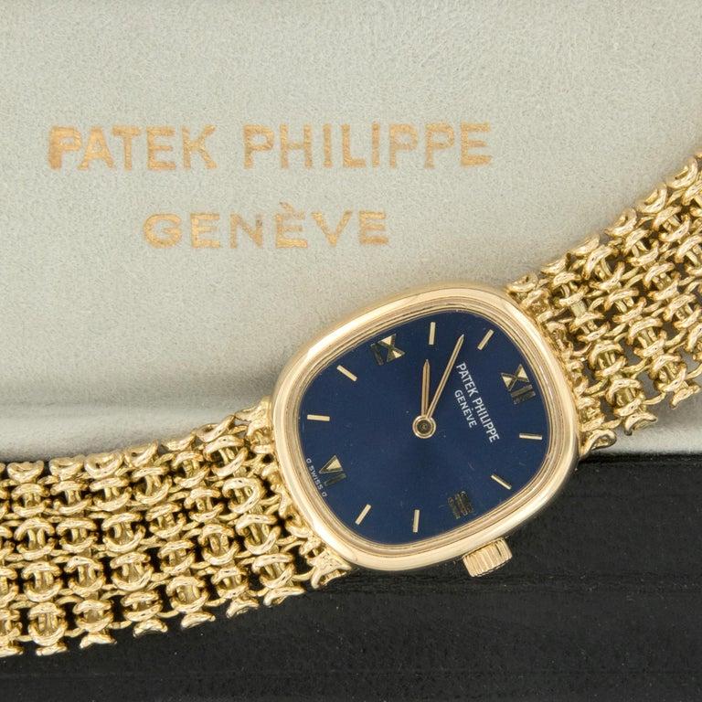 18 Karat Yellow Gold Patek Philippe Golden Ellipse Mechanical Watch In Excellent Condition For Sale In Troy, MI