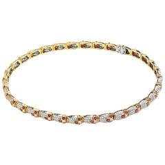 18 Karat Yellow Gold Pave Diamond and Ruby Choker