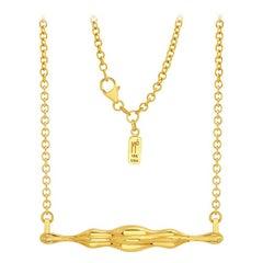 "FARBOD 18 Karat Yellow Gold Pendant ""Brooklyn"" 'Unisex'"