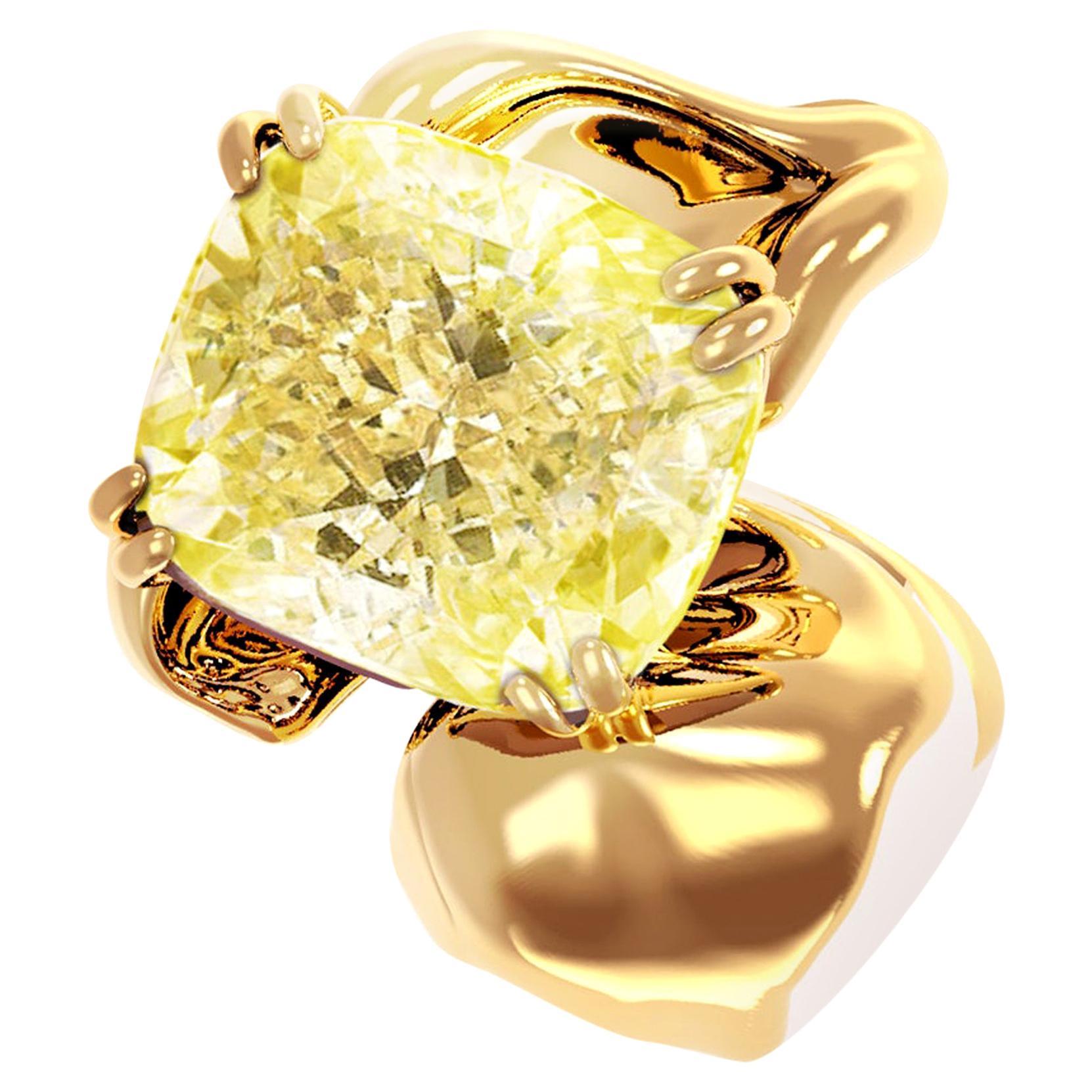 18 Karat Yellow Gold Pendant Necklace with 1 Carat GIA Certified Yellow Diamond