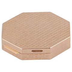 "18 Karat Yellow Gold ""Porta Cipria"", Blush Holder"