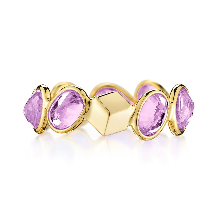 dad71e6d0974d Paolo Costagli 18 Karat Yellow Gold Purple Sapphire, 4.86 Carat Ombre Ring