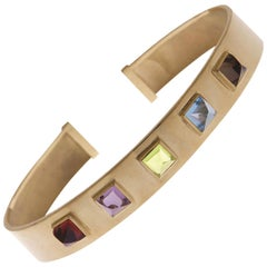18 Karat Yellow Gold Pyramidal Cut Stones BenBen Bracelet