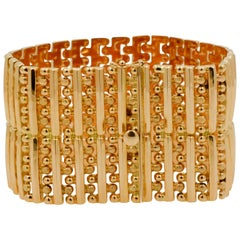 18 Karat Yellow Gold Retro Bracelet