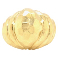 H. Dunay 18 Karat Yellow Gold Ring