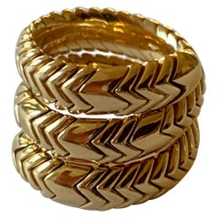 18 Karat Yellow Gold Ring Spiga by Bulgari