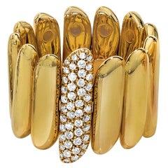 18 Karat Yellow Gold Ring with .37 Carat Diamonds