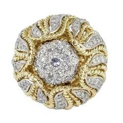 Diamonds Yellow Gold Ring