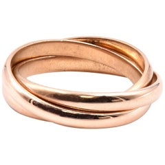 18 Karat Yellow Gold Rolling Ring