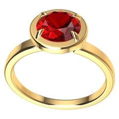 18 Karat Yellow Gold Ruby Ring