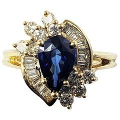 18 Karat Yellow Gold Sapphire and Diamond