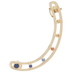 18 Karat Yellow Gold Sapphires - Sunset Ear Cuff/ Earring