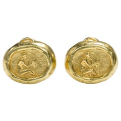 18 Karat Yellow Gold Seidengang Odyssey Collection Ear Clips