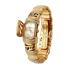 Ebel Shanta 18k Yellow Gold Mother of Pearl and Diamond Watch