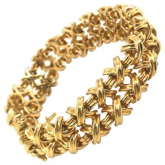 18 Karat Yellow Gold Signature X Collection Bracelet by Tiffany & Co.