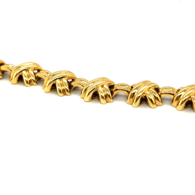 Contemporary 18 Karat Yellow Gold Signature X Collection Necklace by Tiffany & Co. For Sale