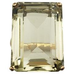 18 Karat Yellow Gold Smoky Quartz Ring
