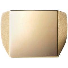 18 Karat Yellow Gold Square Signet Ring Large #3~#12