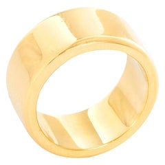 18 Karat Yellow Gold Thick Wedding Band