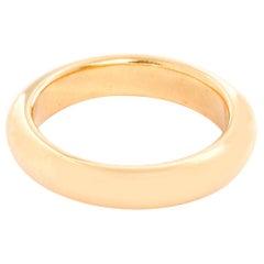 18 Karat Yellow Gold Thin Wedding Band