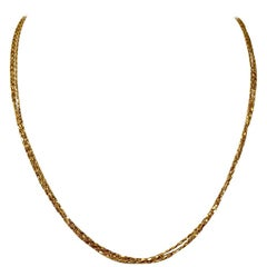 18 Karat Yellow Gold Triple Strand Diamond Cut Milor Necklace