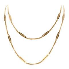 18 Karat Yellow Gold UNO-A-ERRE Fancy Link Chain