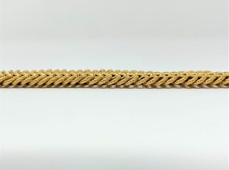 Women's 18 Karat Yellow Gold UnoAErre Wide Fancy Link Bracelet