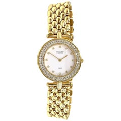 18 Karat Yellow Gold Van Cleef & Arpels Classique Watch with Diamonds