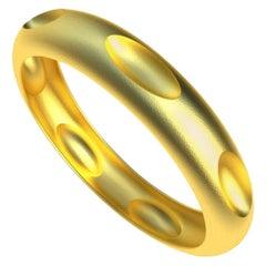 18 Karat Yellow Gold Vermeil 7 Ovals Bangle Bracelet