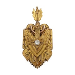 18 Karat Yellow Gold Victorian Locket