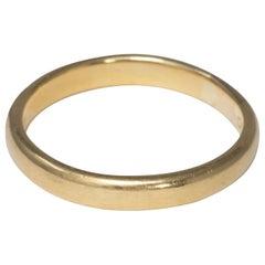 18 Karat Yellow Gold Vintage Wedding Band Ring, Ring