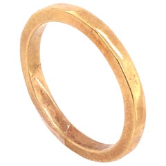18 Karat Yellow Gold Wedding Band Bridal Ring