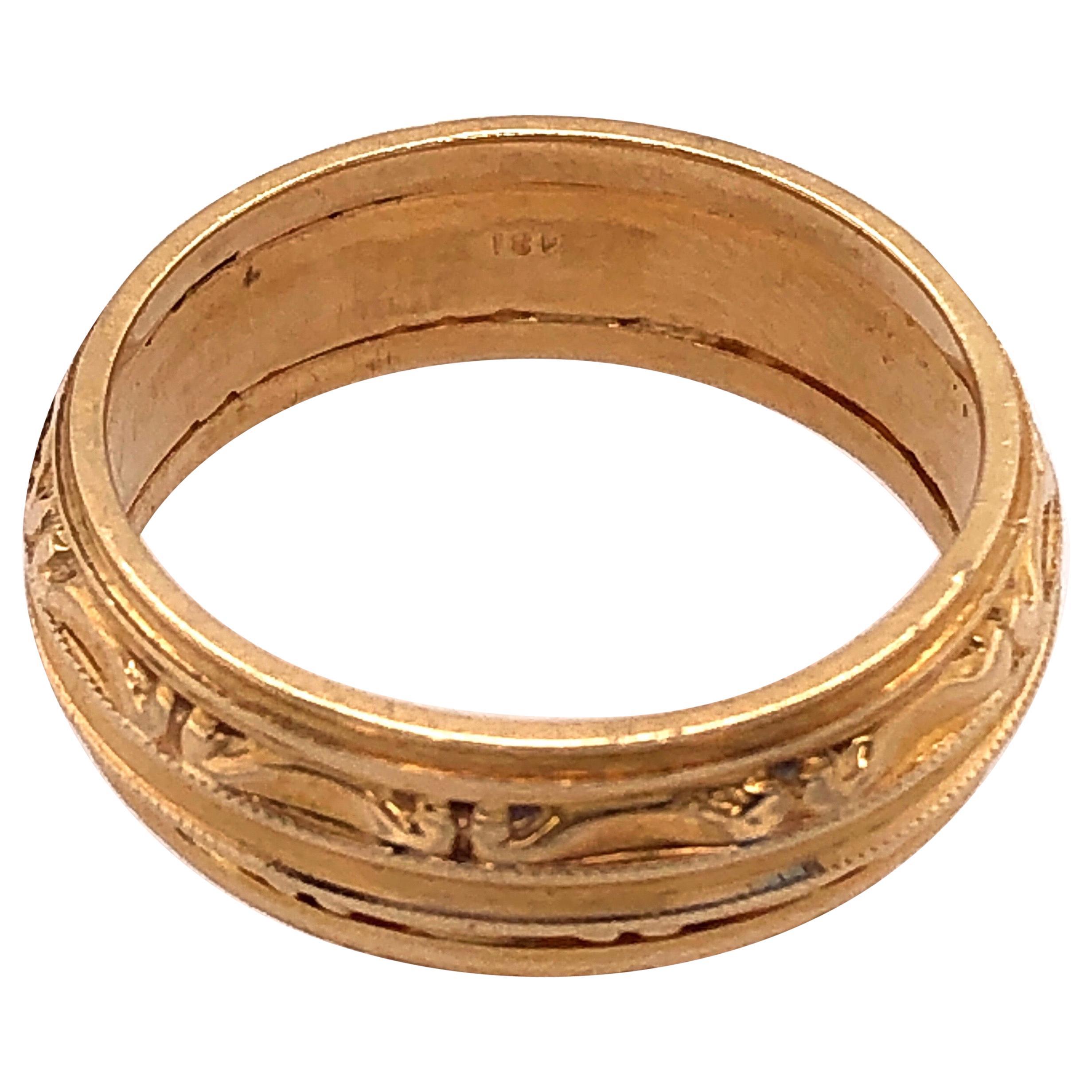 18 Karat Yellow Gold Wedding Ring / Band