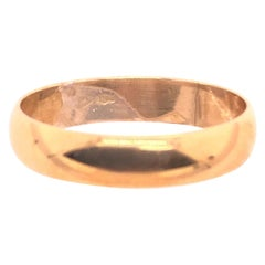 18 Karat Yellow Gold Wedding Ring / Wedding Band